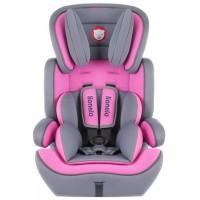 Дитяче автокрісло Lionelo Levi Plus 1/2/3 Pink (Ліонело Леві Плюс)
