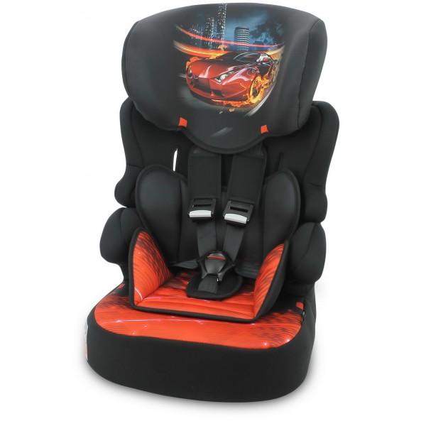 Автокрісло Lorelli X-Drive Plus 1/2/3 Black Fiery Race (9-36 кг) (Лореллі Ікс-Драйв Плюс)