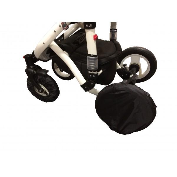 Чехол-беретик на колеса для колясок с поворотными передними колесами