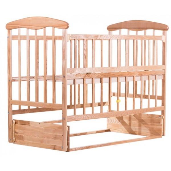 Детская кровать Наталка (маятник, откидной бок ольха светлая)