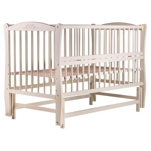 Дитяче ліжко Веселка (маятник, відкидний бік, бук слонова кістка)