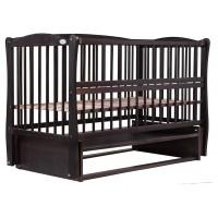 Дитяче ліжко Веселка (маятник, відкидний бік, бук венге)