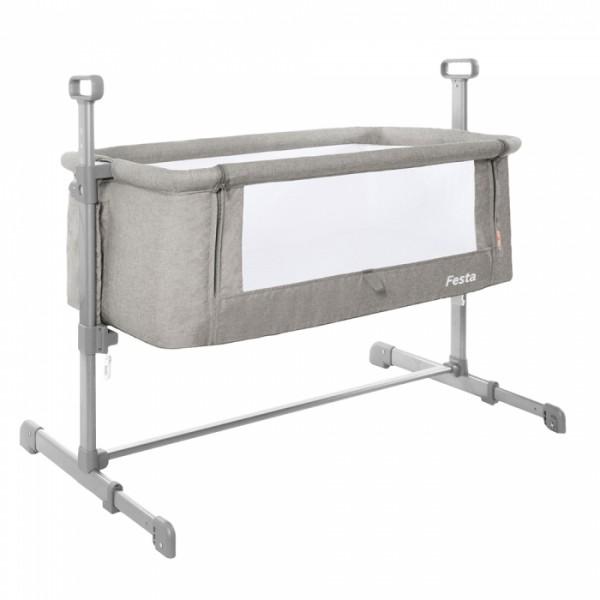 Приставне ліжечко Carrello Festa CRL-8401 Neutral Grey (Каррелло Феста)