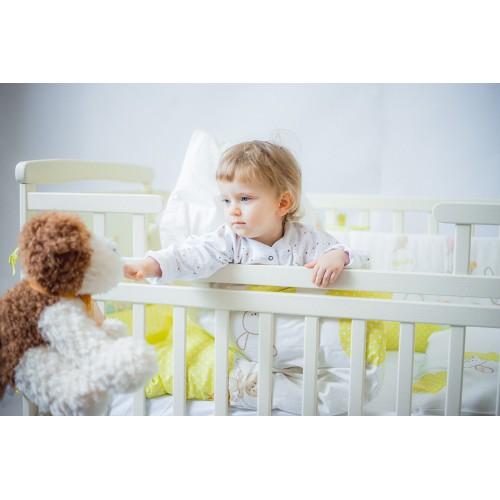 Дитяче ліжко-трансформер DeSon човник (з шухлядою, білий) (Десон)