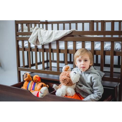 Дитяче ліжко-трансформер DeSon човник (з шухлядою, горіх) (Десон)