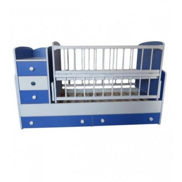 Дитяче ліжко-трансформер (Біло-Блакитна)