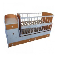 Дитяче ліжко-трансформер (Біло-Помаранчевий)