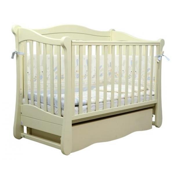 Детская кроватка Верес СОНЯ ЛД 18 без колес без ящика слоновая кость