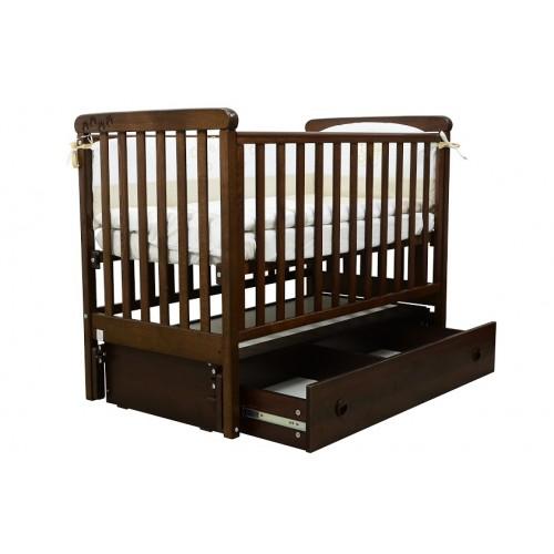Детская кроватка Верес СОНЯ ЛД 12 без колес без ящика орех