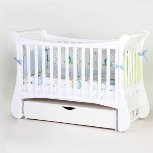 Дитяче ліжко Верес ЛД20 Тюльпан (білий)