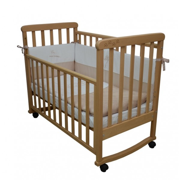 Детская кроватка Верес СОНЯ ЛД 12 без колес без ящика бук