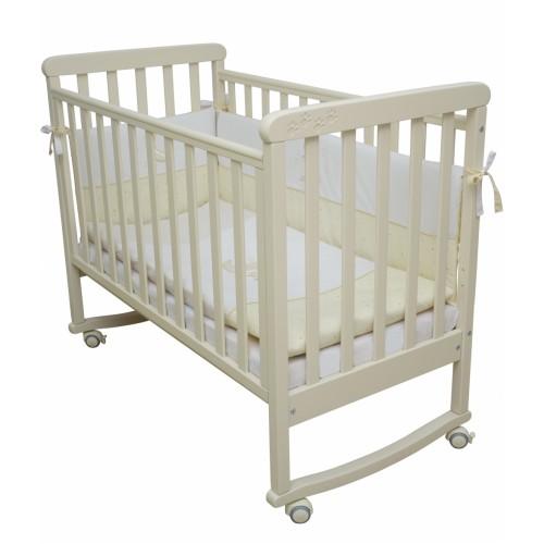 Детская кроватка Верес СОНЯ ЛД 12 без колес без ящика слоновая кость