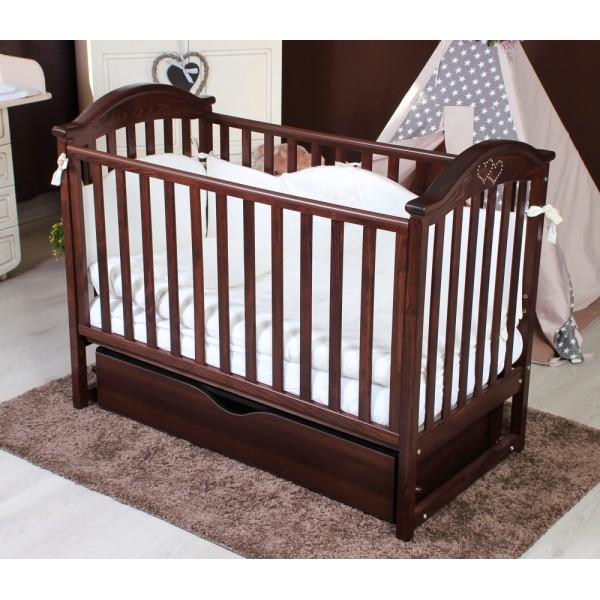 Детская кроватка Twins iLove (орех)