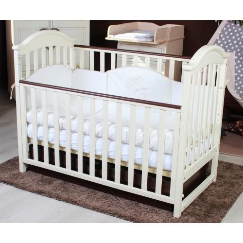 Дитяче ліжко Twins iLove (слонова кістка / горіх) (Твінс Айлав)