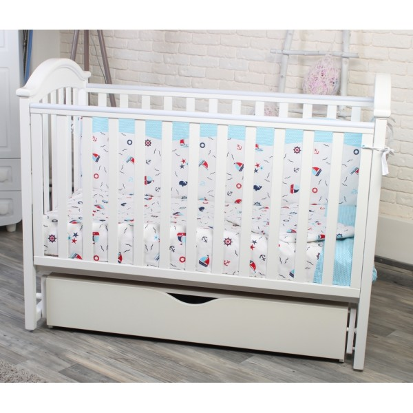 Дитяче ліжко Twins iLove (білий) (Твінс Айлав)