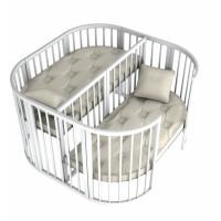 Ліжечко Twins для двійні 110 х 110 Білий (Твінс)