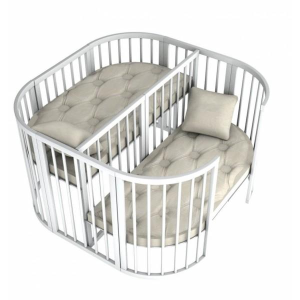 Ліжечко Twins для двійні 110 х 110 Слонова Кістка (Твінс)