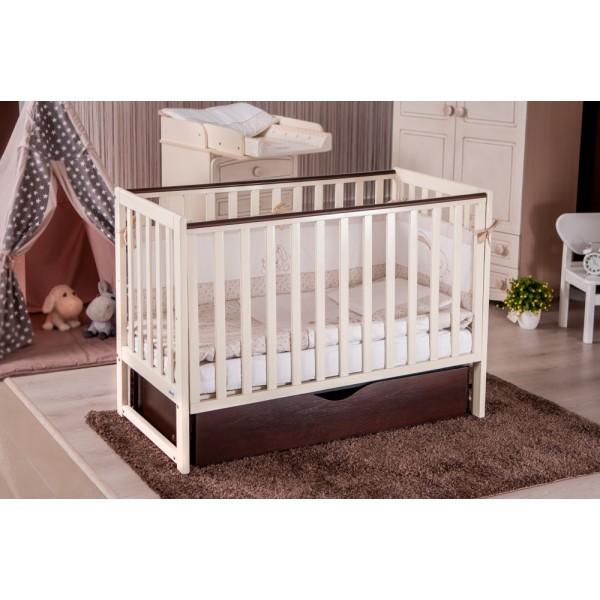 Детская кроватка Twins Pinocchio (слоновая кость/ орех)