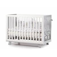Детская кроватка Верес ЛД 1 Манхэттен без колес без ящика на ножках белый/серый
