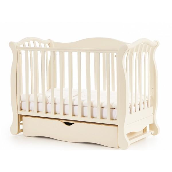 Дитяче ліжко Верес ЛД 19 маятник / ящик слонова кістка