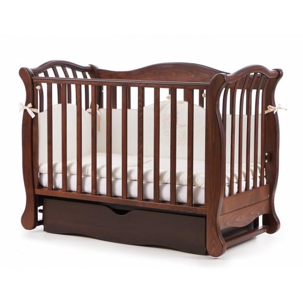 Дитяче ліжко Верес ЛД 19 маятник / ящик горіх