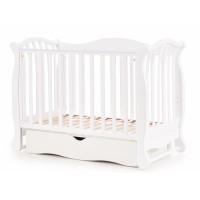 Дитяче ліжко Верес ЛД 19 маятник / ящик білий
