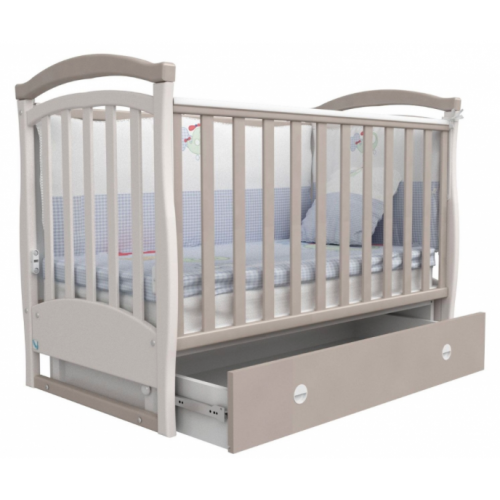 Детская кроватка Верес СОНЬКА  ЛД 6 без колес капучино