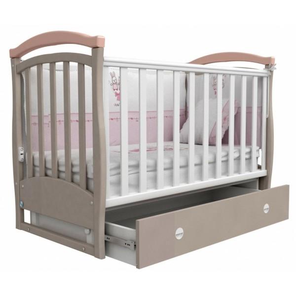 Дитяче ліжко Верес Сонька ЛД 6 без коліс капучино / рожевий