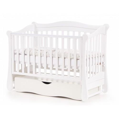 Детская кроватка Верес СОНЯ ЛД 18 без колес без ящика белая
