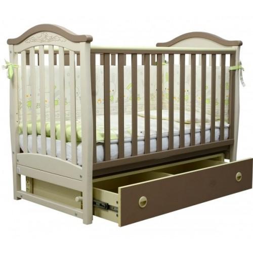 Детская кроватка Верес  ЛД 3 без колес без ящика (капучино)