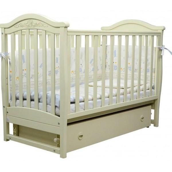 Детская кроватка Верес  ЛД 3 без колес без ящика (слоновая кость)