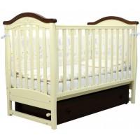 Детская кроватка Верес  ЛД 3  (слоновая кость / орех)