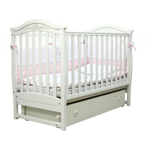 Детская кроватка Верес  ЛД 3 без колес без ящика (белый)