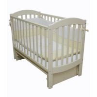 Детская кроватка Верес СОНЯ ЛД 10 без колес без ящика слоновая кость