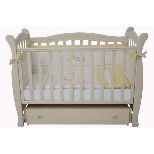 Детская кроватка Верес СОНЯ ЛД 15 без колес без ящика слоновая кость