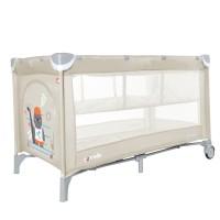 Манеж-ліжко CARRELLO Piccolo+ CRL-9201/1 Cream Beige (з другим дном) (Каррелло Пікколо)