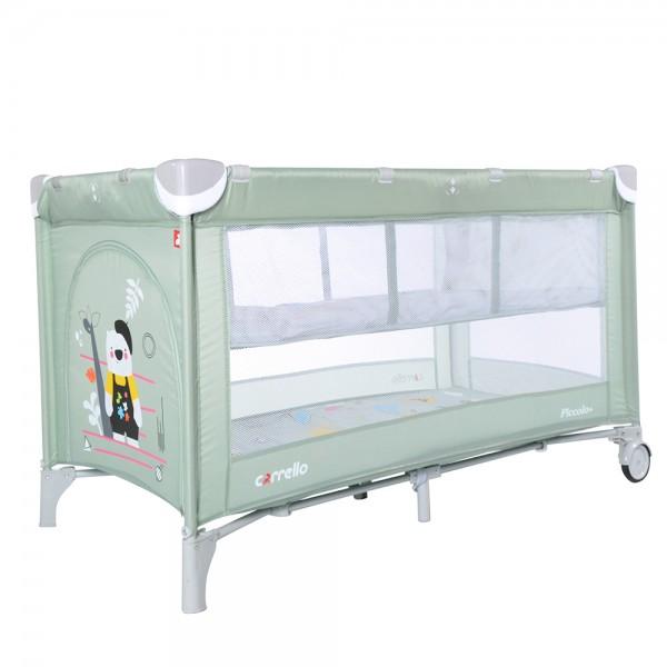 Манеж-ліжко CARRELLO Piccolo+ CRL-9201/1 Cameo Green (з другим дном) (Каррелло Пікколо)