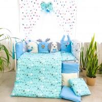 Комплект дитячої постільної білизни Bepino Тваринки 2 (блакитні) (Бепіно)
