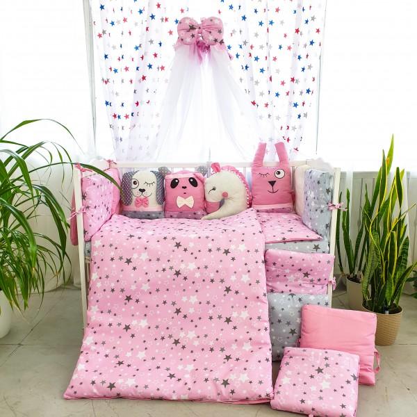 Комплект дитячої постільної білизни Bepino Тваринки 2 (рожеві) (Бепіно)