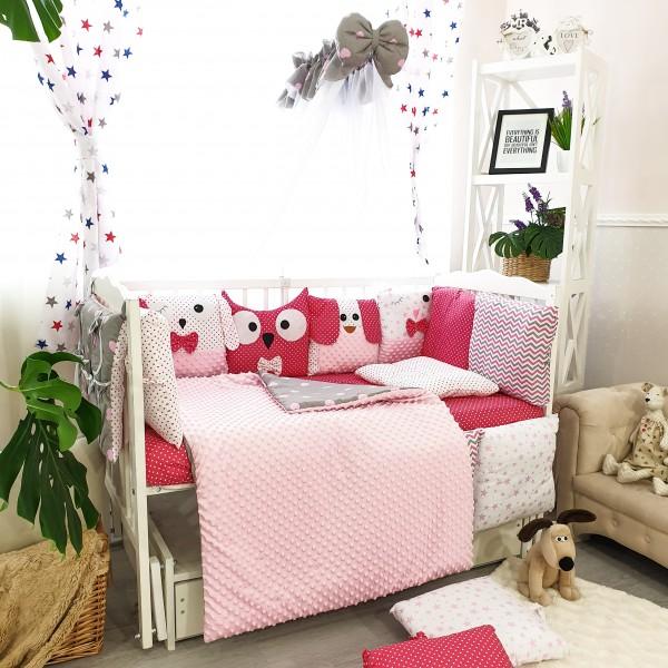 Комплект дитячої постільної білизни Bepino Персонажі (рожеве) (Бепіно)