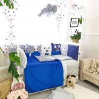 Комплект дитячої постільної білизни Bepino Персонажі (синє) (Бепіно)