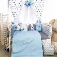 Комплект дитячої постільної білизни Bepino Тваринки (блакитні) (Бепіно)
