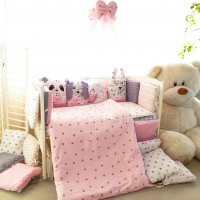 Комплект дитячої постільної білизни Bepino Тваринки (рожеві) (Бепіно)