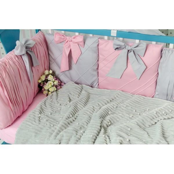 Постільний комплект Добрий Сон Шарм (сіро-рожевий)