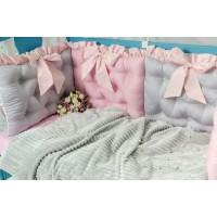Постільний комплект Добрий Сон Намистинка (сіро-рожевий)