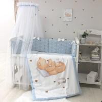 Постільний комплект Маленька Соня Happy Baby (блакитний) (Хеппі Бейбі)