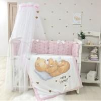 Постільний комплект Маленька Соня Happy Baby (рожевий) (Хеппі Бейбі)