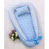 Позіционер (кокон) для новонароджених Добрий Сон Baby Line (100 х 70 см, блакитний) (Бейбі Лайн)