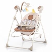 Крісло-гойдалка CARRELLO Nanny 3 в 1 CRL-0005 Beige Stripe (Каррелло Нанні)