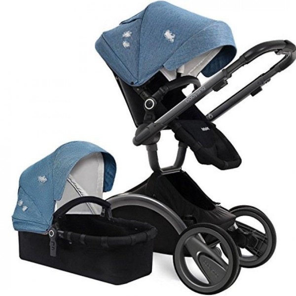 Універсальна коляска 2 в 1 Babysing V-GO Jeans blue (Бейбісін Ві-Гоу)